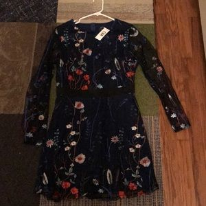 CBR embroidered dress - NWT
